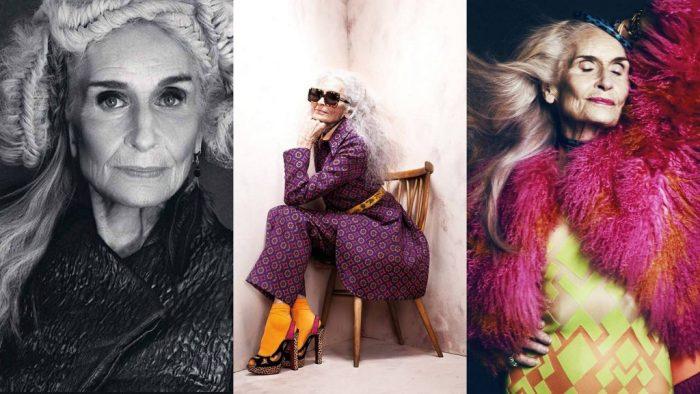 Sieviete ir skaista jebkurā vecumā – pasaulē vecākā supermodele; viņai ir gandrīz 90!