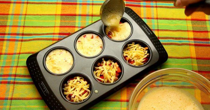 Recepte. Brokastu omlete kēksu formā – vienkāršāk nemēdz būt!