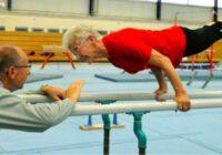 95 gadus vecās vingrotājas sniegumu nespēj atkārtot jaunās sportistes