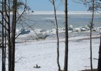 FOTO: Reta dabas parādība novērota Saulkrastu pludmalē